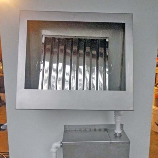 Our Wall-Mounted Hood Filter Cleaning Unit With a Post-Clean Shine!